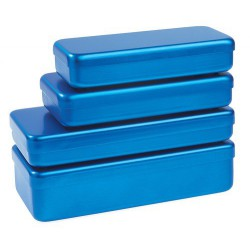 Boite aluminium bleu